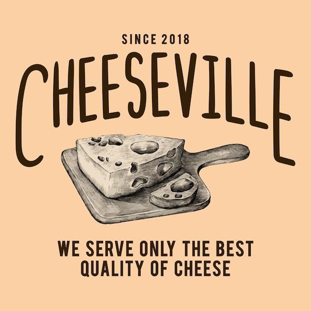Vettore di progettazione di logo del negozio di cheeseville