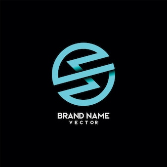 Vettore di progettazione di logo della lettera di tipografia s