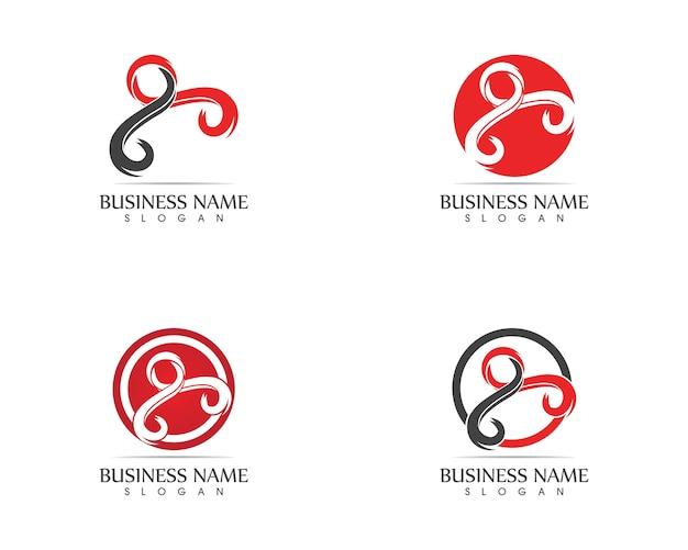 Vettore di progettazione di logo di carattere umano