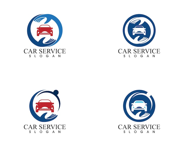 Vettore di progettazione di logo di servizio auto auto