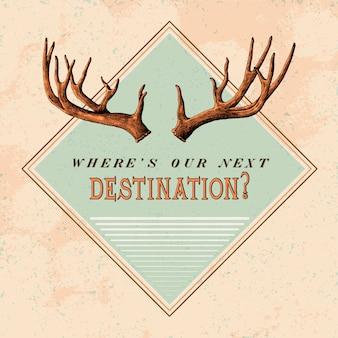 Vettore di progettazione di logo di viaggio di destinazione