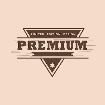 Vettore di progettazione distintivo di qualità premium