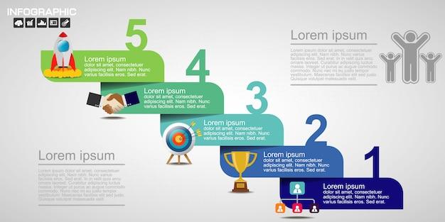 Vettore di progettazione infografica e marketing.