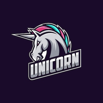 Vettore di progettazione logo unicorn