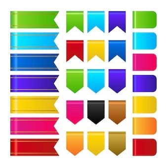 Vettore di raccolta nastri multicolori 3d