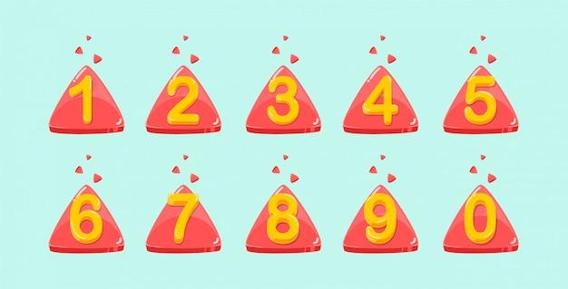 Vettore di raccolta numeri colorati