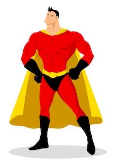 Vettore di riserva di un supereroe del fumetto nella posa galante