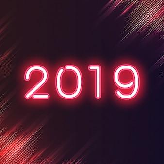 Vettore di segno al neon rosso 2019