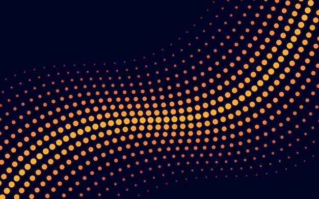 Vettore di semitono sfondo giallo dell'onda