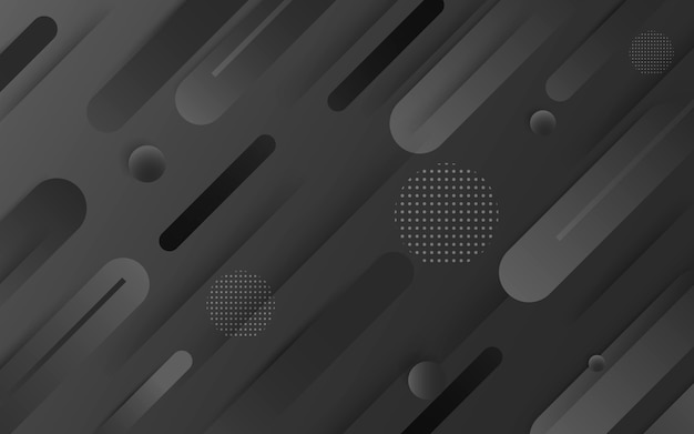 Vettore di sfondo astratto nero. astratto grigio sfondo di design moderno