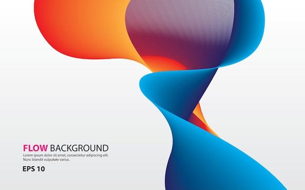 Vettore di sfondo colorato astratto flusso