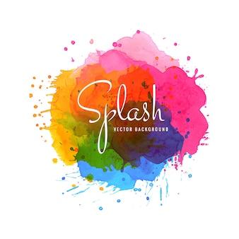 Vettore di sfondo colorato elegante spruzzata dell'acquerello