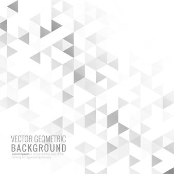 Vettore di sfondo geometrico luminoso grigio
