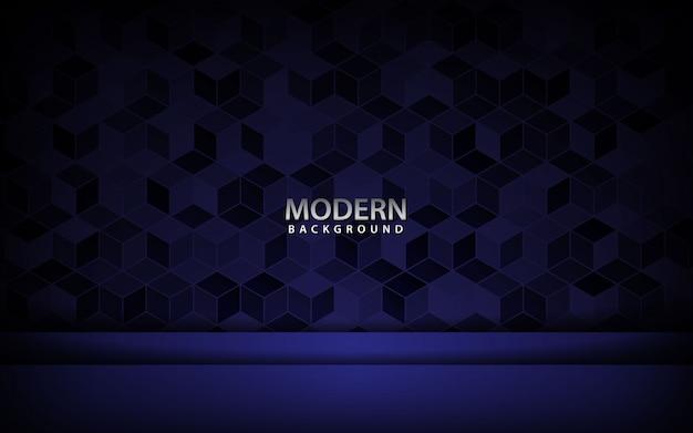 Vettore di sfondo sovrapposizione blu con texture cubo