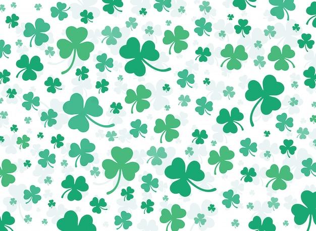 Vettore di sfondo verde foglia di trifoglio