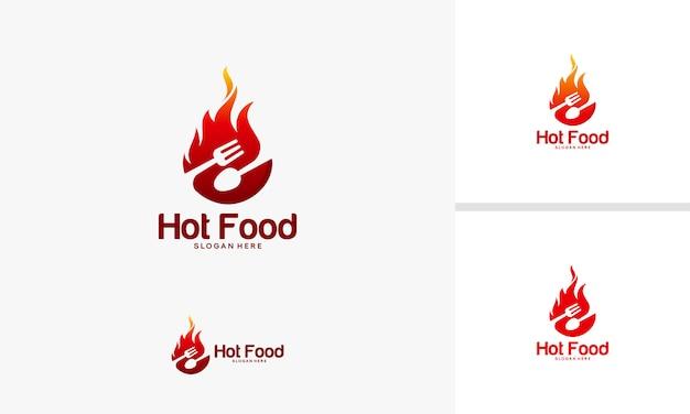 Vettore di simbolo di cibo di fuoco