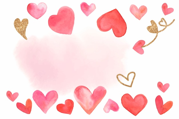 Vettore di stile dell'acquerello del fondo di san valentino