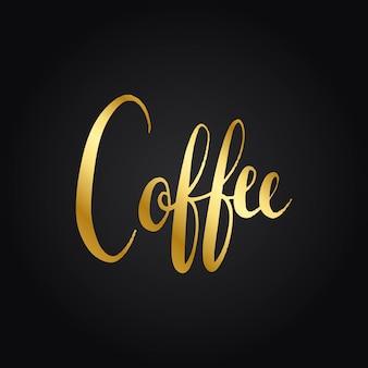Vettore di stile di parola di tipografia del caffè