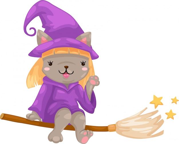 Vettore di strega di halloween