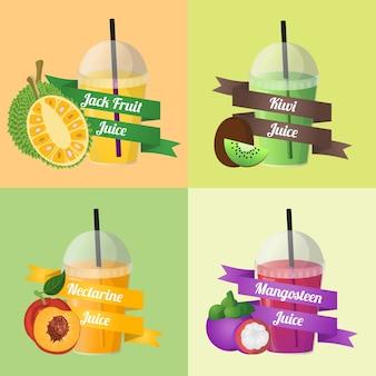 Vettore di succo di frutta