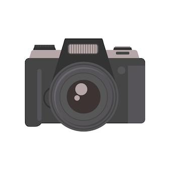 Vettore di tecnologia dell'obiettivo dell'attrezzatura di fotografia della macchina fotografica.