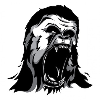 Vettore di testa di gorilla
