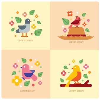 Vettore di uccelli