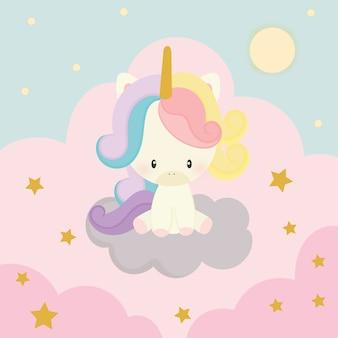 Vettore di unicorno carino