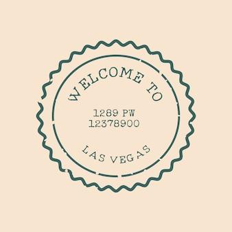 Vettore di vari design di francobolli