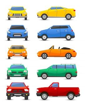 Vettore differente di stile di tecnologia del segno di progettazione di tipo del veicolo dell'automobile