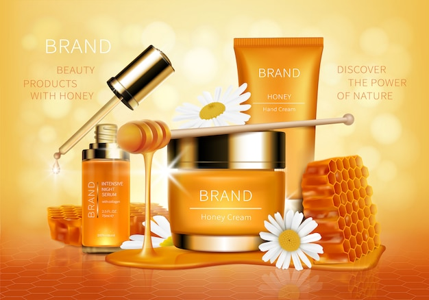 Vettore e fondo realistici cosmetici