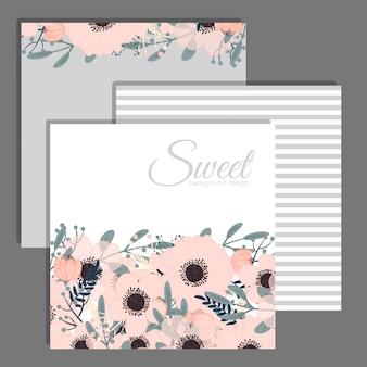 Vettore elegante della carta dell'invito di nozze floreali dell'invito