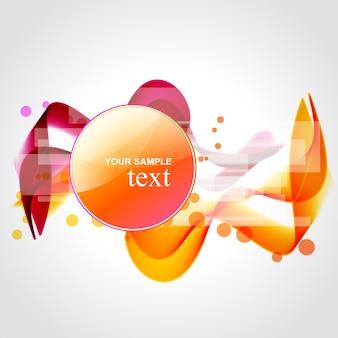 Vettore elegante design bachground in colore arancione