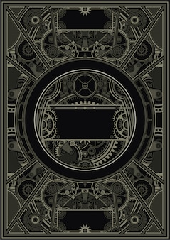 Vettore env del modello del manifesto di steampunk