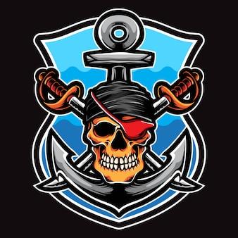 Vettore equipaggio pirata