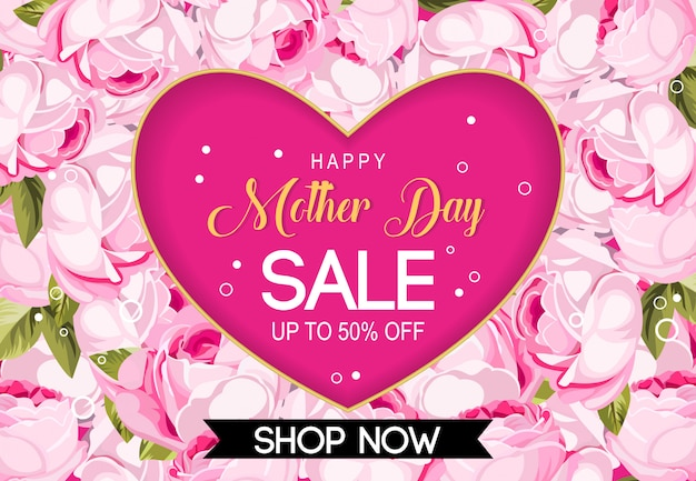 Vettore felice della priorità bassa di vendita di giorno di madre
