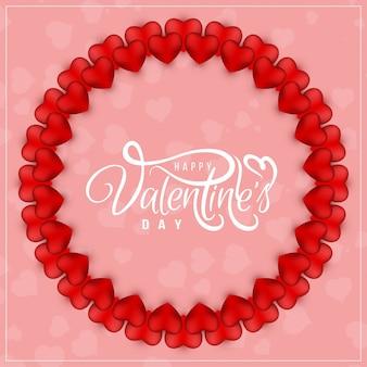 Vettore felice di progettazione del fondo di saluto di san valentino