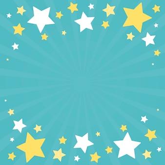 Vettore festivo di progettazione del fondo delle stelle