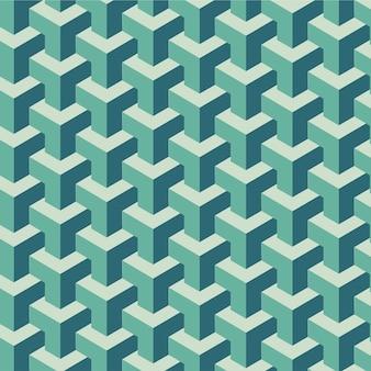 Vettore geometrico dell'illustrazione di progettazione del modello senza cuciture