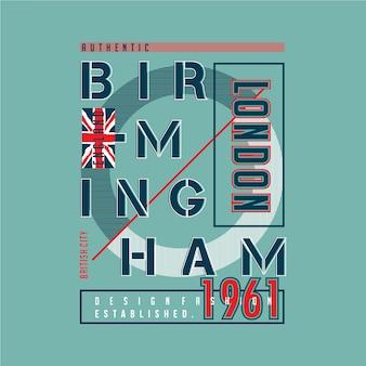 Vettore grafico tipografia di birmingham per tee stampati