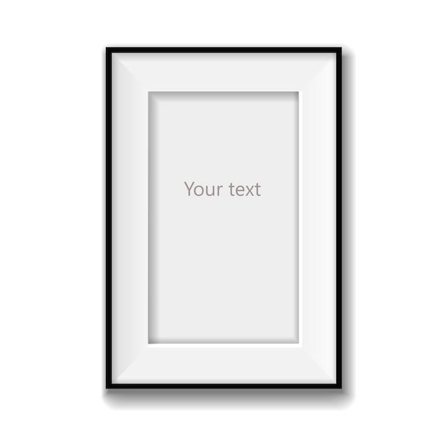 Vettore in bianco della cornice isolato. illustrazione vettoriale