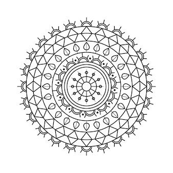 Vettore indiano mandala linear design
