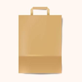 Vettore isolato modello del sacco di carta