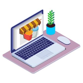 Vettore isometrico di concetto di vendite del prodotto