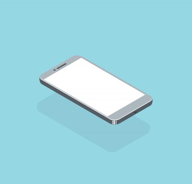 Vettore isometrico realistico smartphone