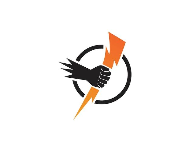 Vettore istantaneo del modello di logo di colpo di fulmine