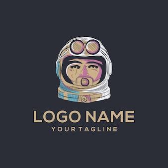 Vettore logo astronot