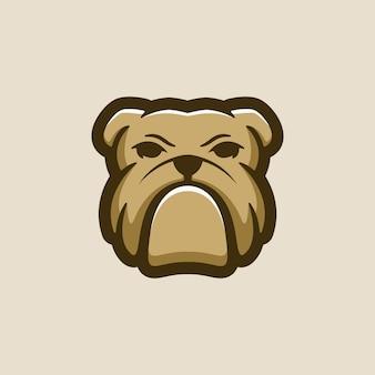 Vettore logo bulldog