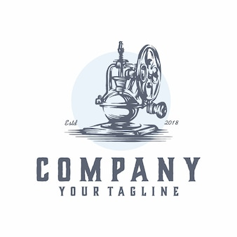 Vettore logo cafeteira