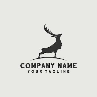 Vettore logo cervo